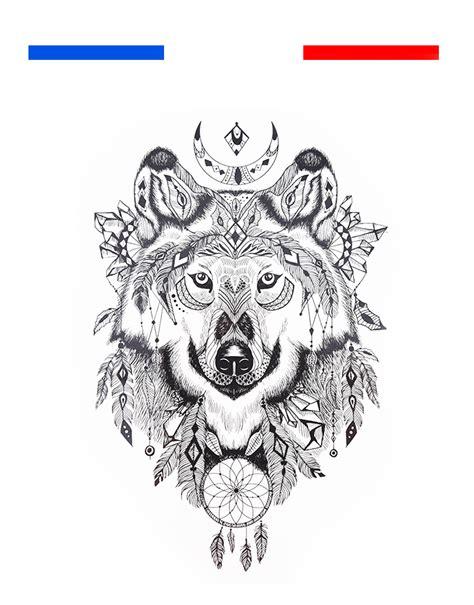 Tatouage Loup Mandala Femme Homme Temporaire  Mon Petit
