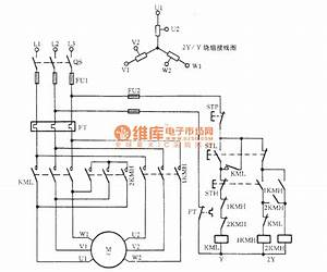 Three-phase Motor Double Speed 2y    Y Connection Speed Regulation Circuit