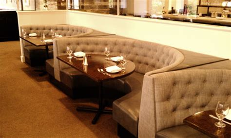 upholstered restaurant booths fixed bench bar seating