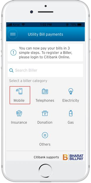 With the world going digital many people prefer paying their bills through online mediums. Utility Bill Payments on Mobile App | Citi Mobile App - Citi India