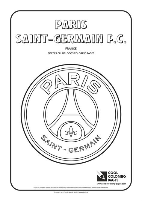 Paris Saint-Germain F.C. logo coloring page | Cool ...