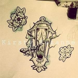 Candle And Lamp Traditional Tattoo Design » Tattoo Ideas