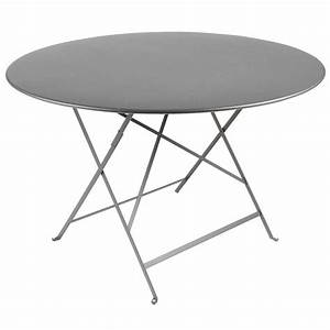 Table De Jardin En Metal : table de jardin pliante metal ronde grise o90cm achat vente table de jardin table de jardin ~ Teatrodelosmanantiales.com Idées de Décoration