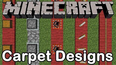 minecraft carpet designs minecraft cool carpet designs