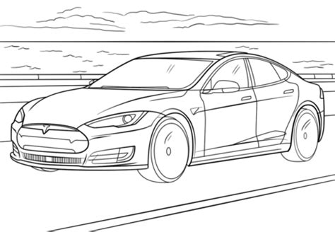 Model S Coloring Page Free Printable Coloring Pages for Kids