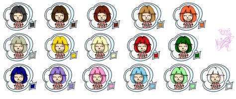 Hair Colors! By Rinayru On