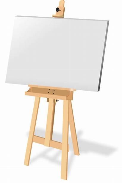 Easel Canvas Clipart Painting Clip Painter Transparent
