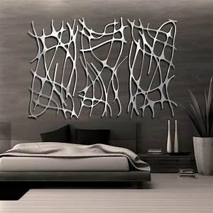 Sculpture Murale Design : la d coration murale en m tal touches d 39 l gance pour l 39 int rieur ~ Teatrodelosmanantiales.com Idées de Décoration