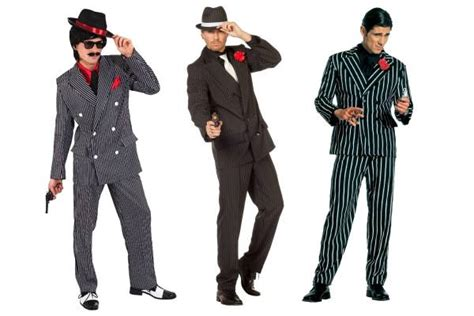 Womens Gangster Mafia Mob Halloween Costume