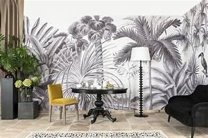 Papier Peint Ananbo : ananb papier peint jarawa noir blanc chambre en 2019 ~ Melissatoandfro.com Idées de Décoration