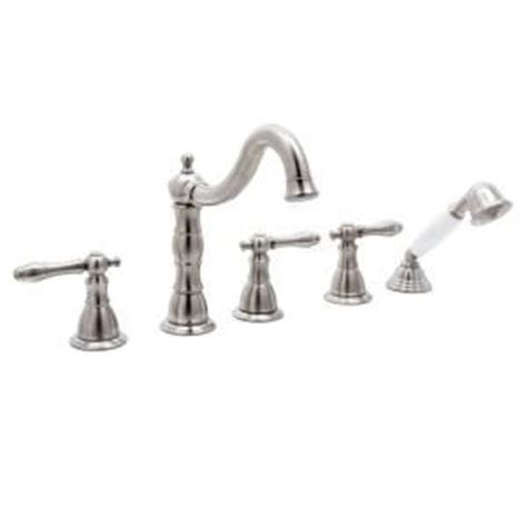 lyndhurst 2 handle deck mount roman tub faucet with