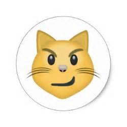 cat emoji cat stickers zazzle