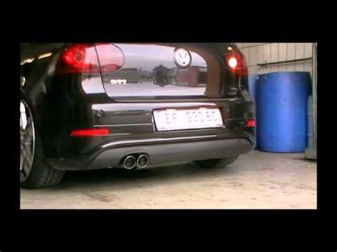 golf 5 sportauspuff fsw exhausts sportauspuff komplettanlage vw golf v gti montage und soundcheck