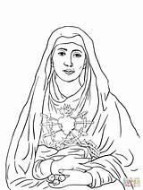 Sorrows Supercoloring Virgen Fatima Coloriage Immacolata Religiose Imprimir Sete Dores Printableshelter sketch template
