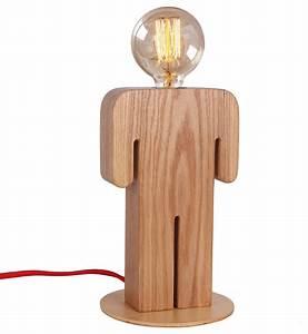 Wooden Indoor Home Lighting Desk Lamp With Unique Boy39s