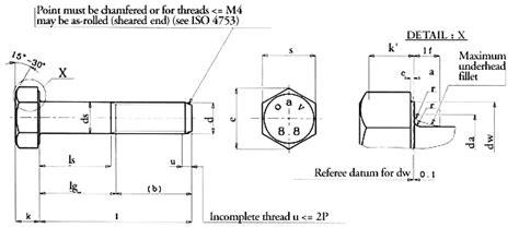 Iso 4014 Hexagon Head Bolt / Hex Head Bolts Exporter India