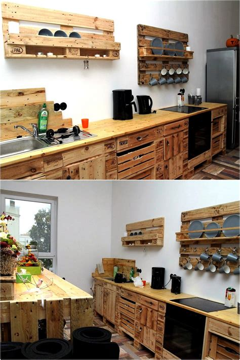 pallet wood kitchen cabinets pallet furniture ideas wood pallet projects and diy 291 | pallet cabinets and shelving for kitchen