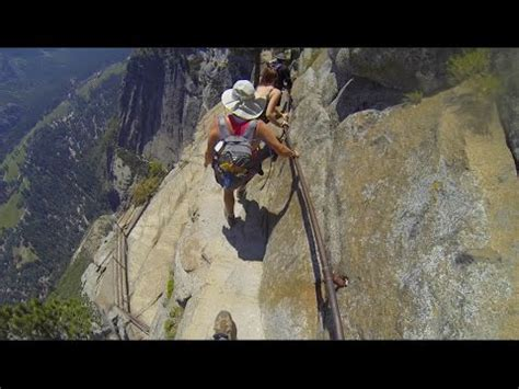 Yosemite Falls Trail The Scary Part Youtube
