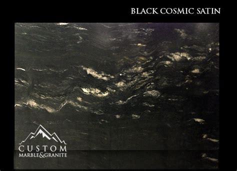 black cosmic granite leathered finish