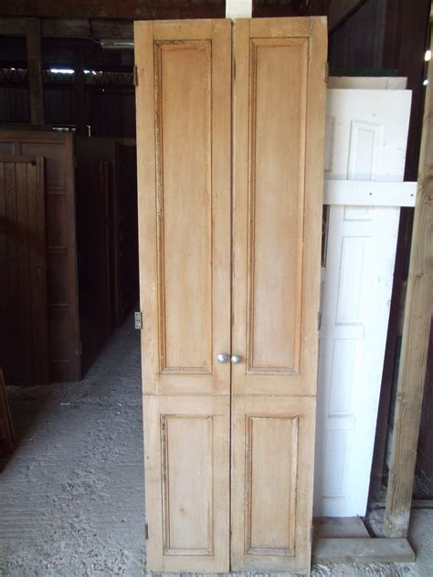 pair  victorian tall cupboard doors authentic reclamation