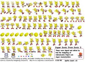 Super Sonic the Hedgehog 3 Sprites