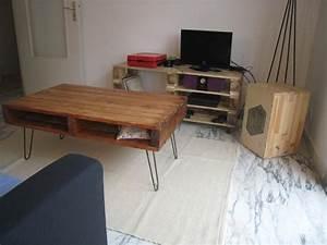 Table Basse Pied Epingle : table basse palette pied epingle blog design d 39 int rieur ~ Dailycaller-alerts.com Idées de Décoration