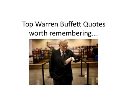 Top warren buffett quotes worth remembering