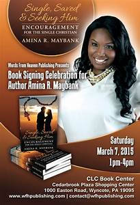 words by amina book signing celebration With book signing poster template