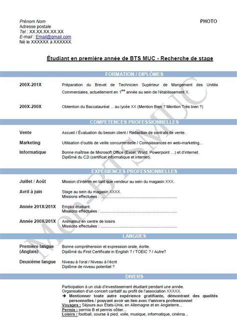 Exemples De Curriculum Vitae by Mod 232 Le Curriculum Vitae Num 233 Ro 1