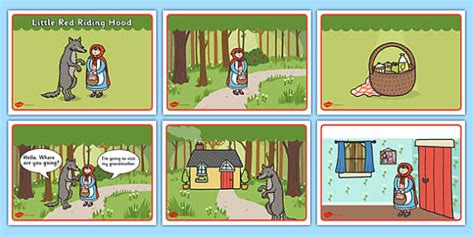 Little Red Riding Hood Story Sequencing (speech Bubbles