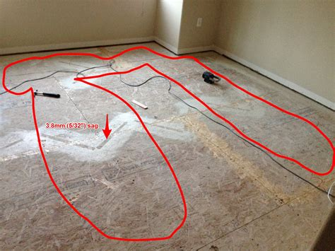 floor leveling compound for plywood subfloors hardwood floor how to flatten the sagging osb subfloor