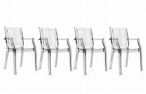 Lot De Chaises Design Pas Cher : chaise design transparente lot de 4 quadro chaises miliboo ventes pas ~ Melissatoandfro.com Idées de Décoration