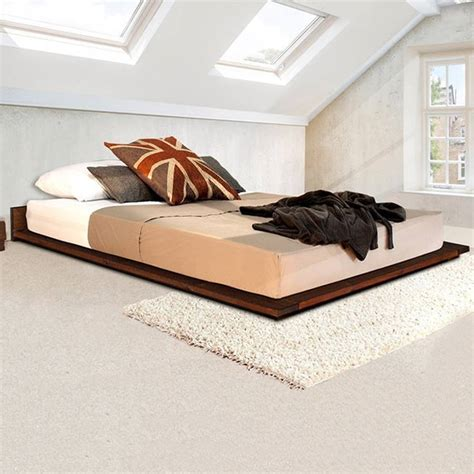 Low Bedroom Frames by Low Wooden Modern Bed Frame By Get Laid Beds