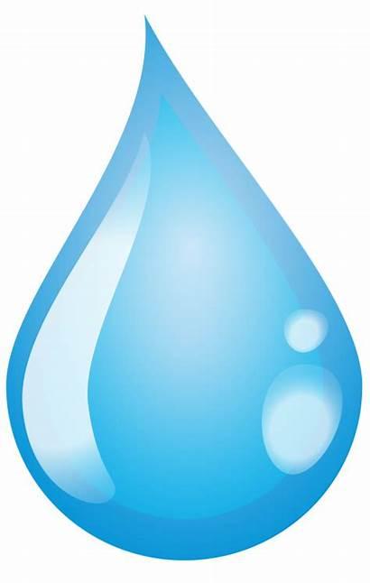 Drop Water Clipart Rain Transparent Droplet Single