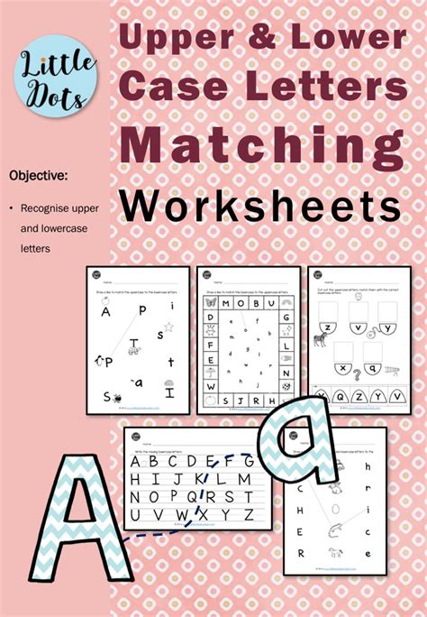 matching uppercase  lowercase letters worksheets