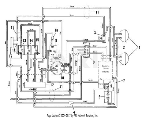 ariens   yt hp kaw hydro  deck parts diagram  electrical