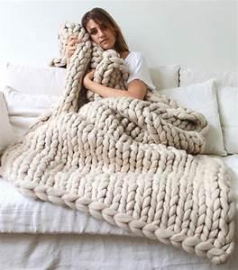Couverture Grosse Maille : tendencia la manta de lana gruesa tama o xxl para un invierno c lido blog f de fifi ~ Teatrodelosmanantiales.com Idées de Décoration