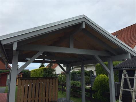 1 Anstrich Carport Vollständig  Mollys Blockhausprojekt