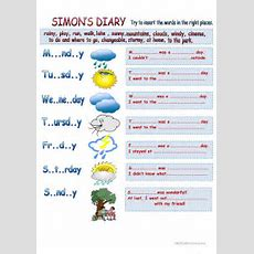 Weather Types Learning+past Simple+vocabulary Worksheet  Free Esl Printable Worksheets Made By