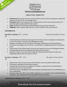 high level executive assistant resume how to write a administrative assistant resume