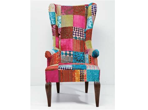 Get the best deals on timber armchairs. Upholstered high-back fabric armchair PATCHWORK VELVET By ...