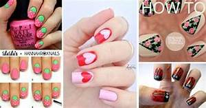 Quick nail design ideas : Cute cool simple and easy nail art design ideas for