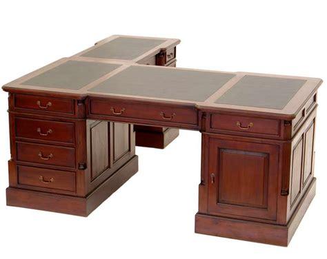 le de bureau style anglais bureau d 39 angle style anglais acajou sous noir cambridge