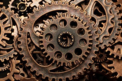 steampunk gears  rights reserved  macro mondays cogwh flickr