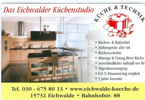 Küchenstudio Königs Wusterhausen by Unterst 252 Tzer Sg S 252 Dstern Senzig E V