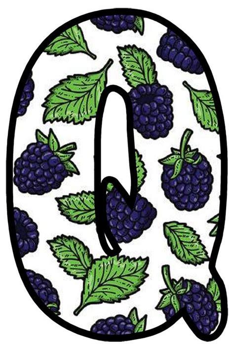 buchstabe letter  monogram alphabet fruit monogram
