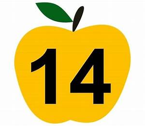 Apple Number Cards 14 Preschool And Homeschool