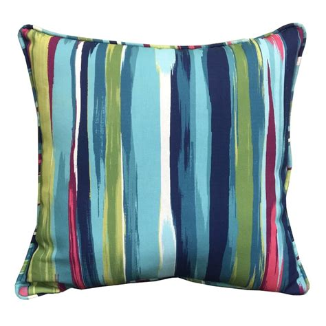shop allen roth stripe and striped square throw pillow