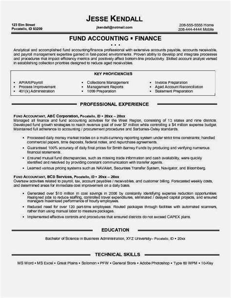 Accounting Resume Sles Canada by Pin By Calendar Designer On Resume Sle Resume