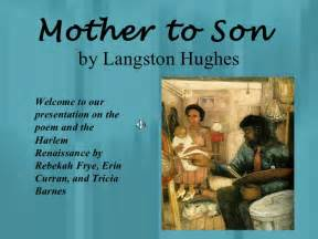 Poem by Langston Hughes Mother to Son